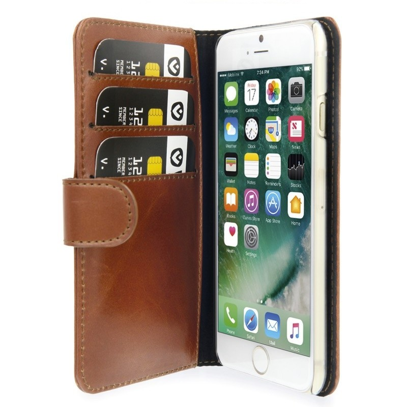 Valenta Booklet Classic Luxe iPhone SE (2020)/8/7 brown 03