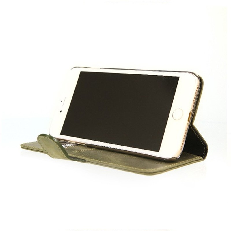 Valenta - Booklet Classic Luxe iPhone 8 Plus/7 Plus vintage green 04