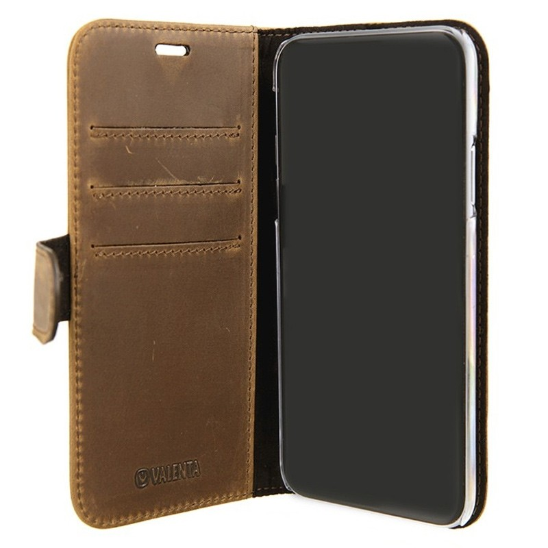 Valenta Booklet Classic Luxe iPhone X/Xs Vintage Brown - 3