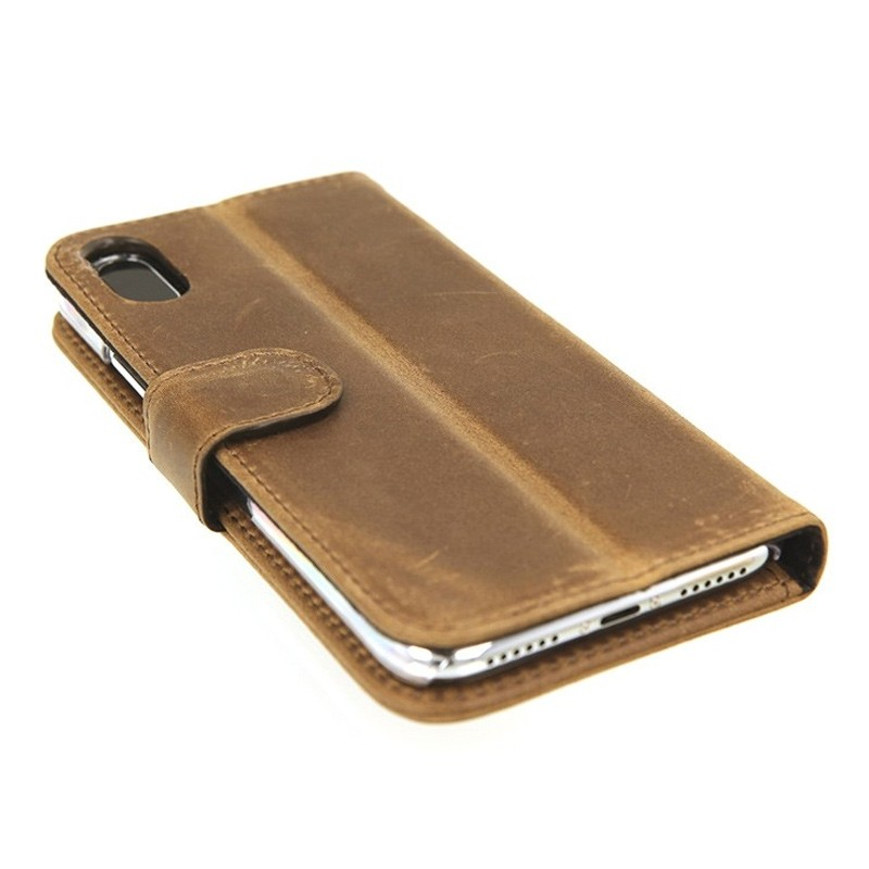 Valenta Booklet Classic Luxe iPhone X/Xs Vintage Brown - 5