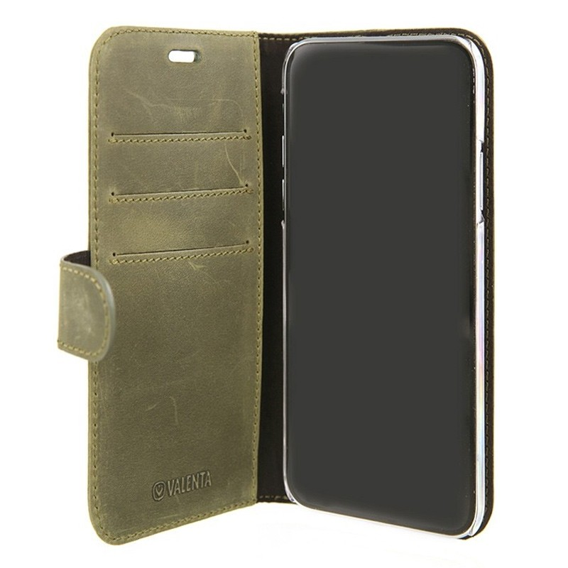 Valena Booklet Classic Luxe iPhone X/Xs Vintage Green - 3