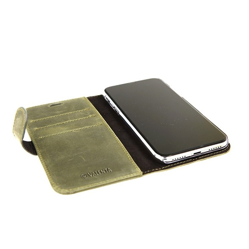 Valena Booklet Classic Luxe iPhone X/Xs Vintage Green - 4