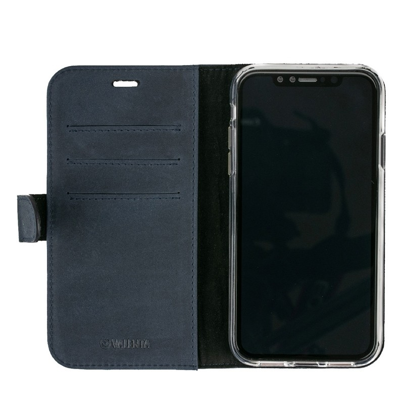 Valenta Booklet Classic Luxe iPhone XR Vintage Blue 03