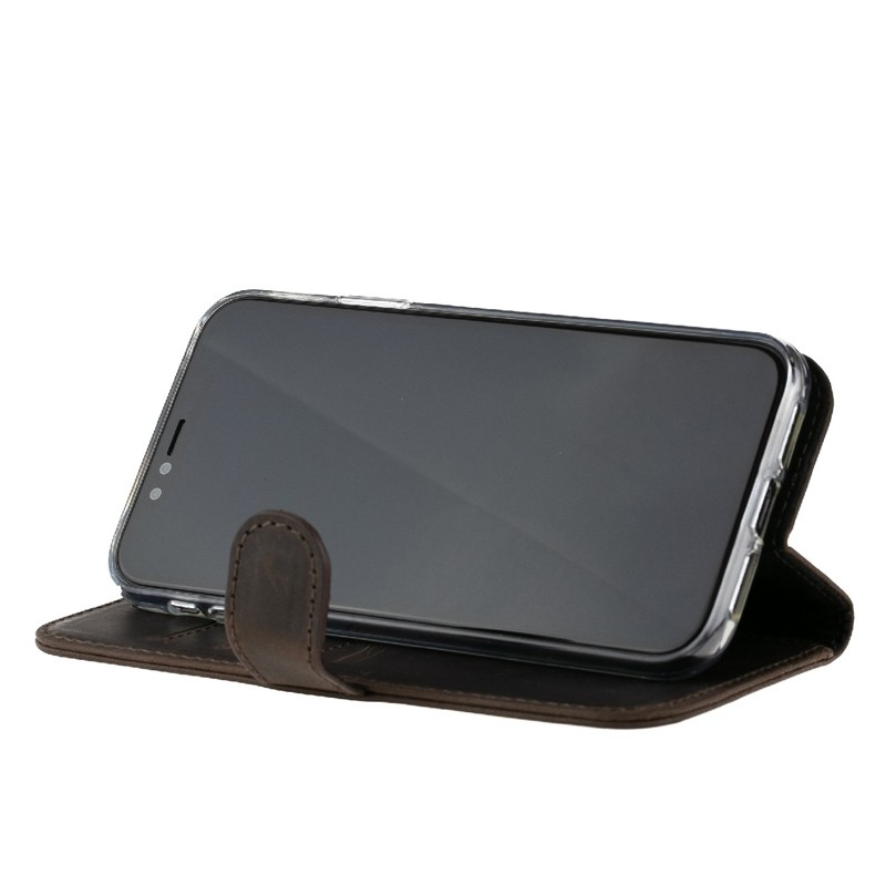 Valenta Booklet Classic Luxe iPhone XR Vintage Brown 06