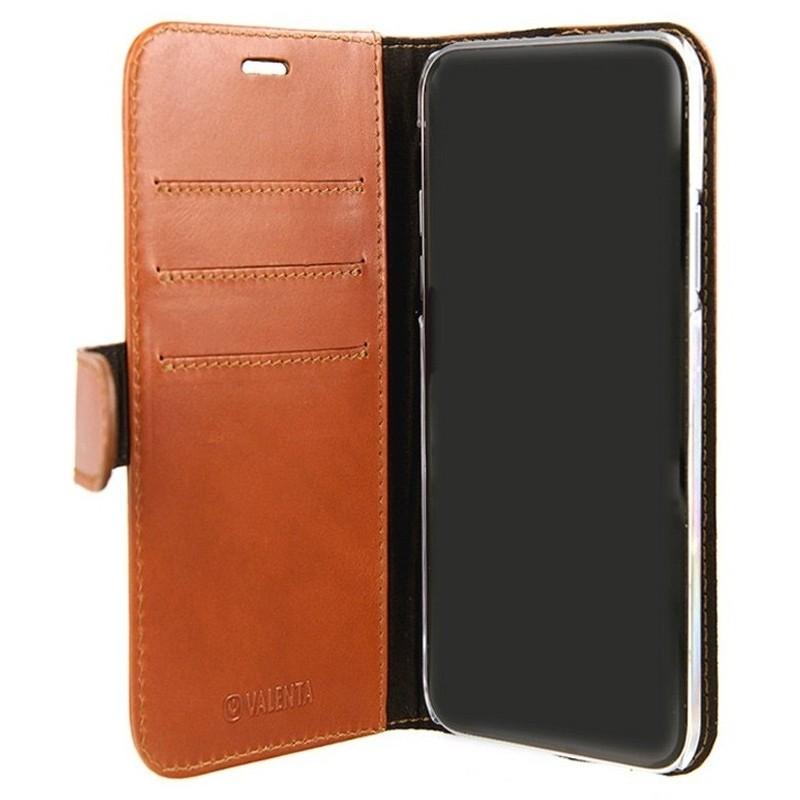 Valenta Booklet Classic Luxe iPhone XS Max Hoesje Bruin 03