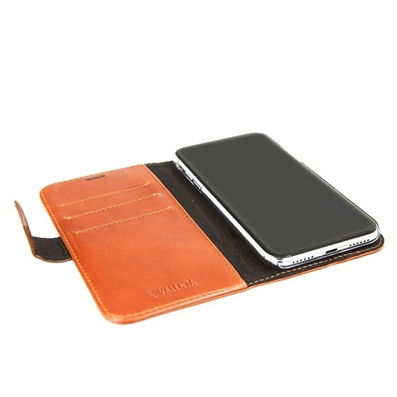 Valenta Booklet Classic Luxe iPhone XS Max Hoesje Bruin 05
