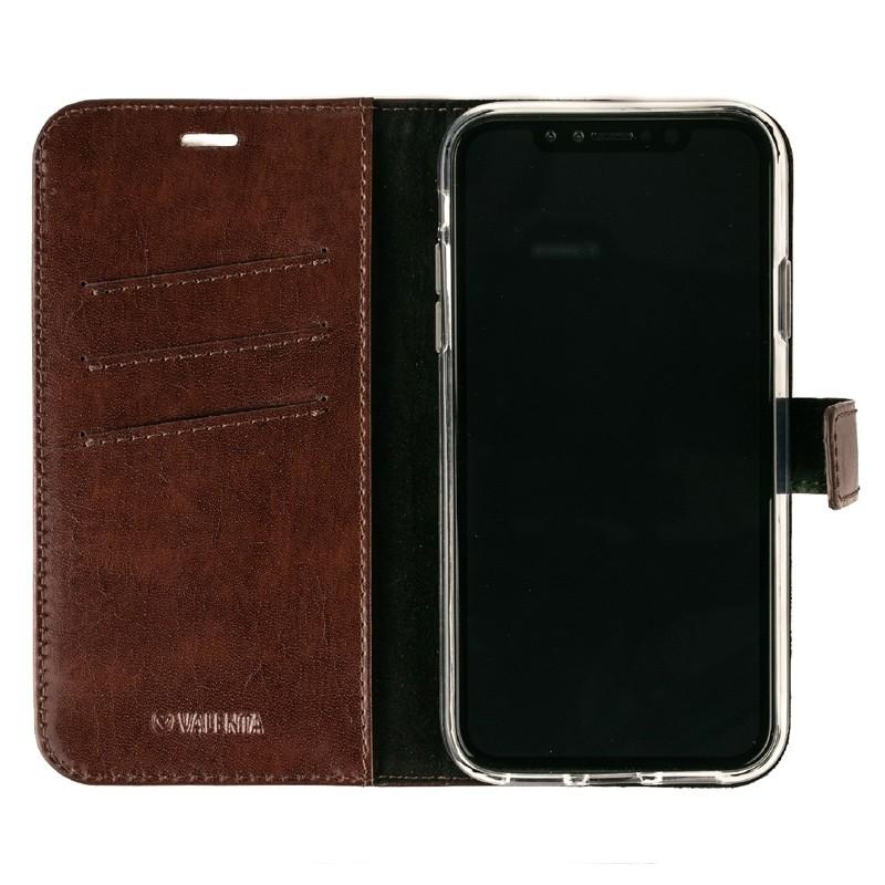 Valenta Booklet Leather Gel Skin iPhone XR Bruin 03