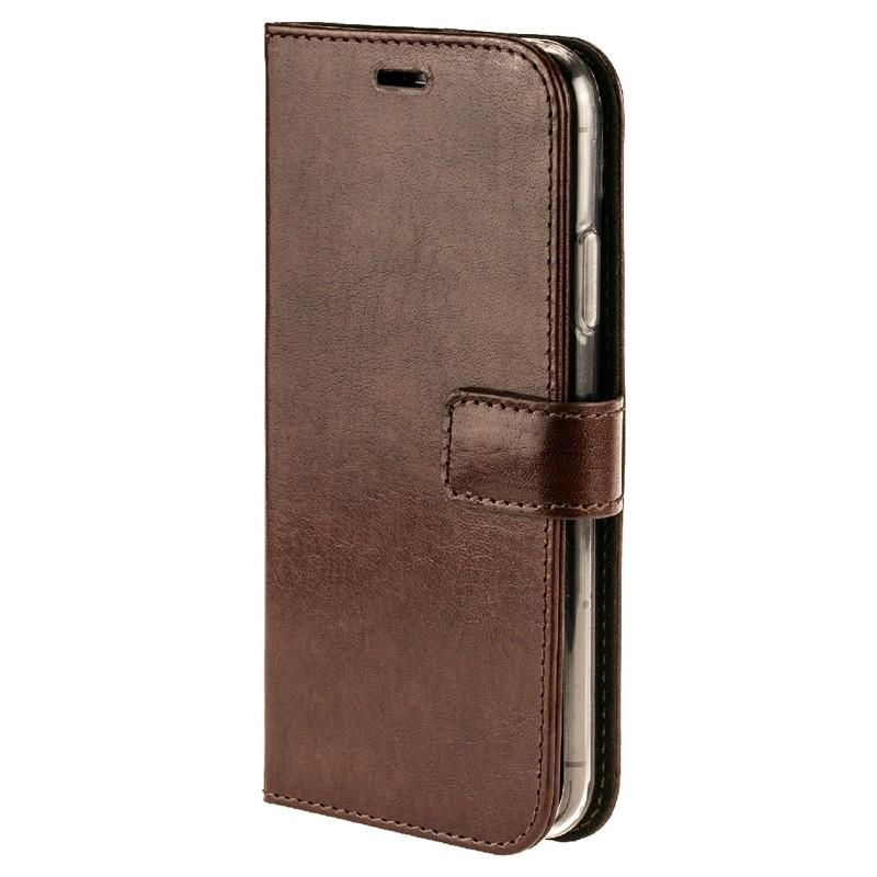 Valenta Booklet Leather Gel Skin iPhone XR Bruin 04