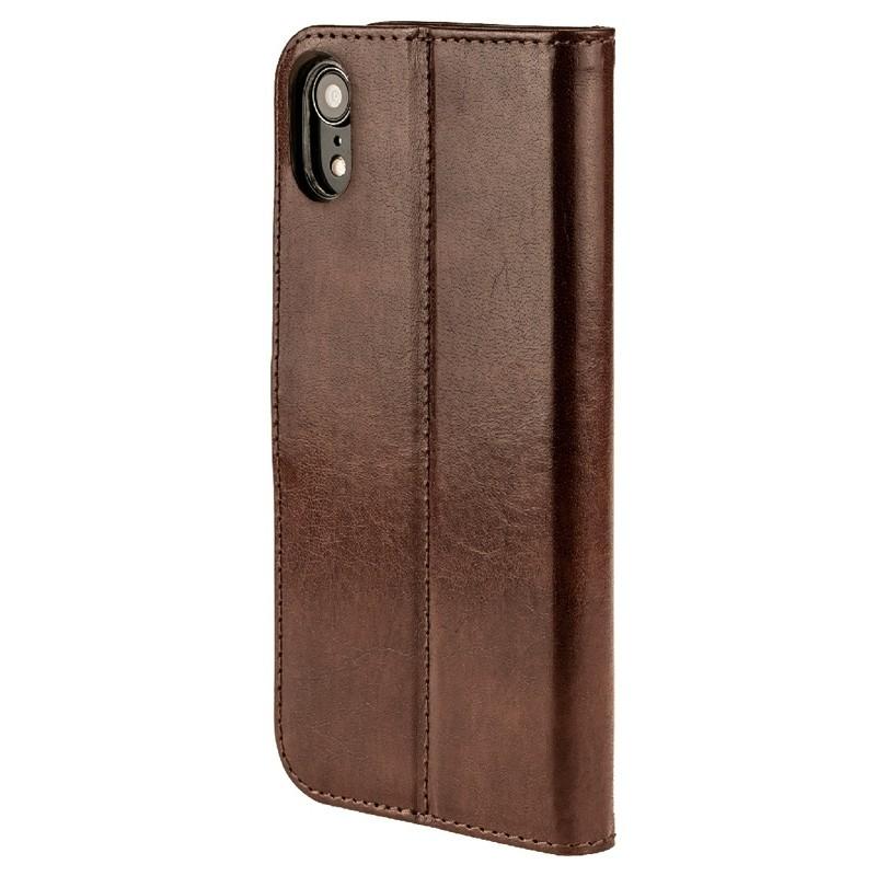 Valenta Booklet Leather Gel Skin iPhone XR Bruin 05