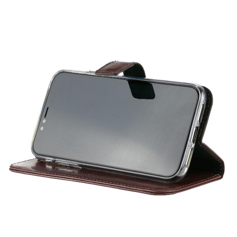 Valenta Booklet Leather Gel Skin iPhone XR Bruin 06