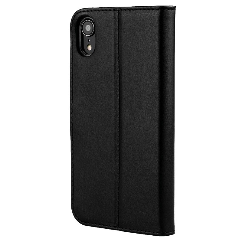 Valenta Booklet Leather Gel Skin iPhone XR Zwart 05
