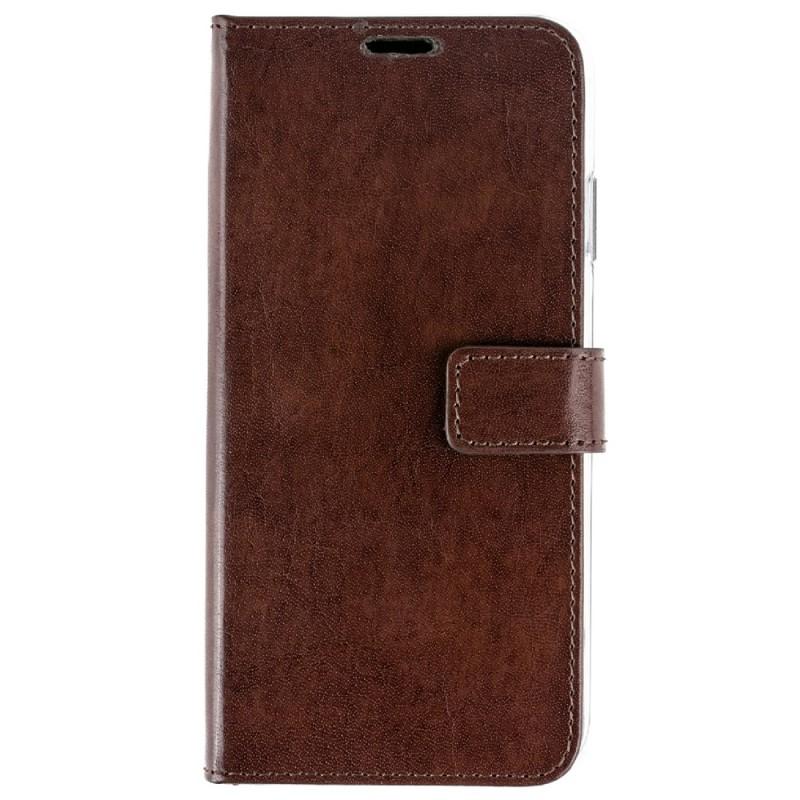 Valenta Booklet Leather Gel Skin iPhone XS Max Bruin 01