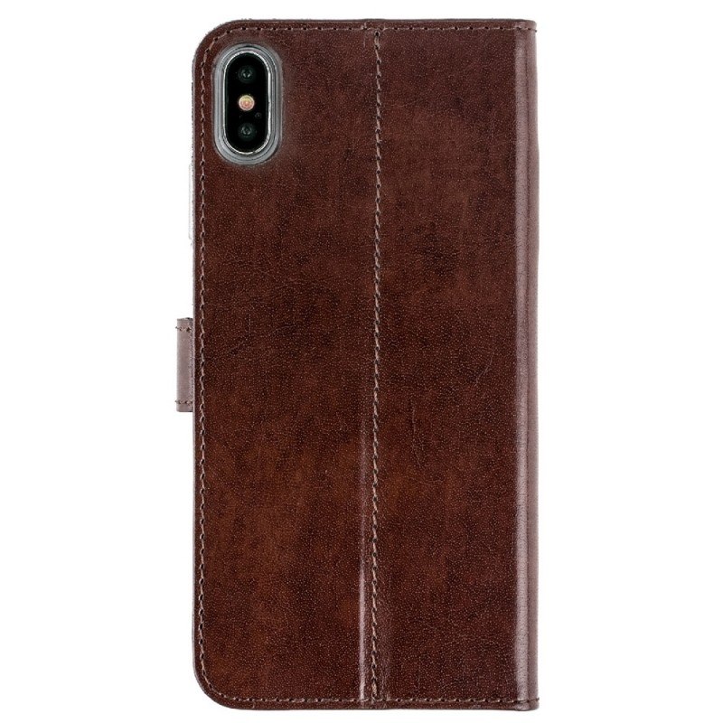 Valenta Booklet Leather Gel Skin iPhone XS Max Bruin 02