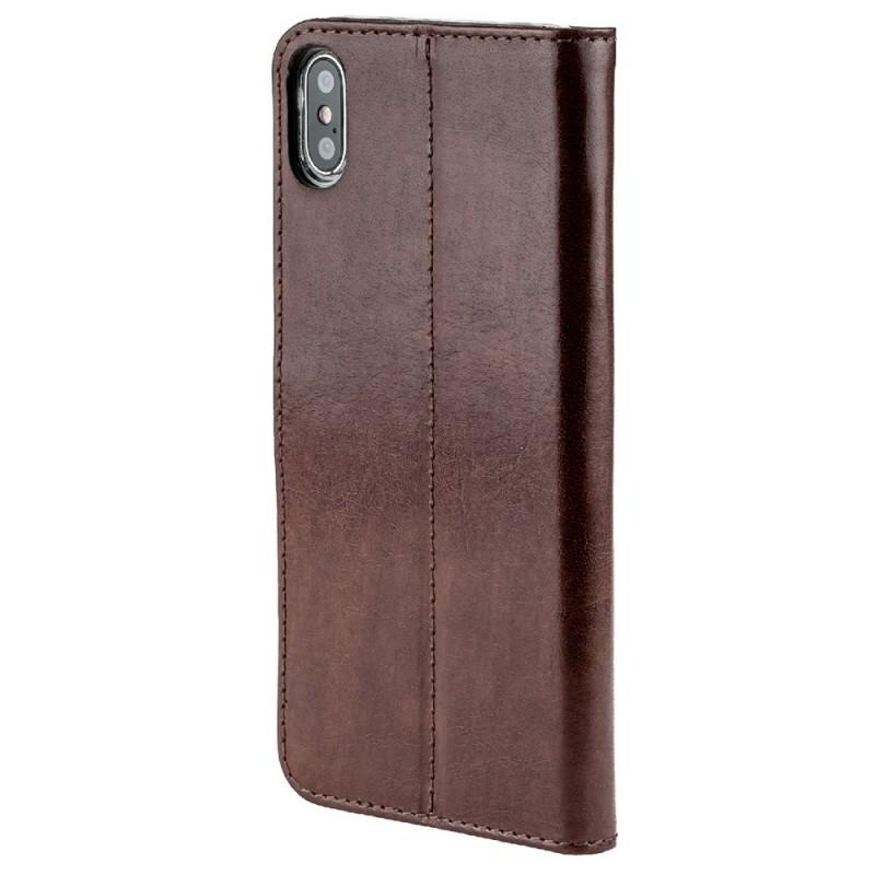 Valenta Booklet Leather Gel Skin iPhone XS Max Bruin 05