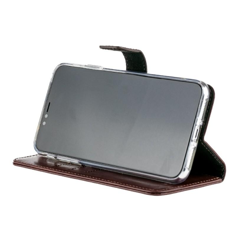 Valenta Booklet Leather Gel Skin iPhone XS Max Bruin 06