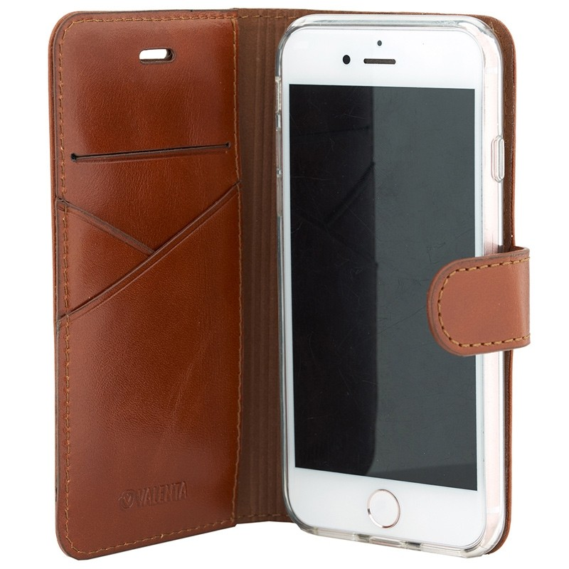 Valenta Premium Booklet iPhone 8/7 brown 03
