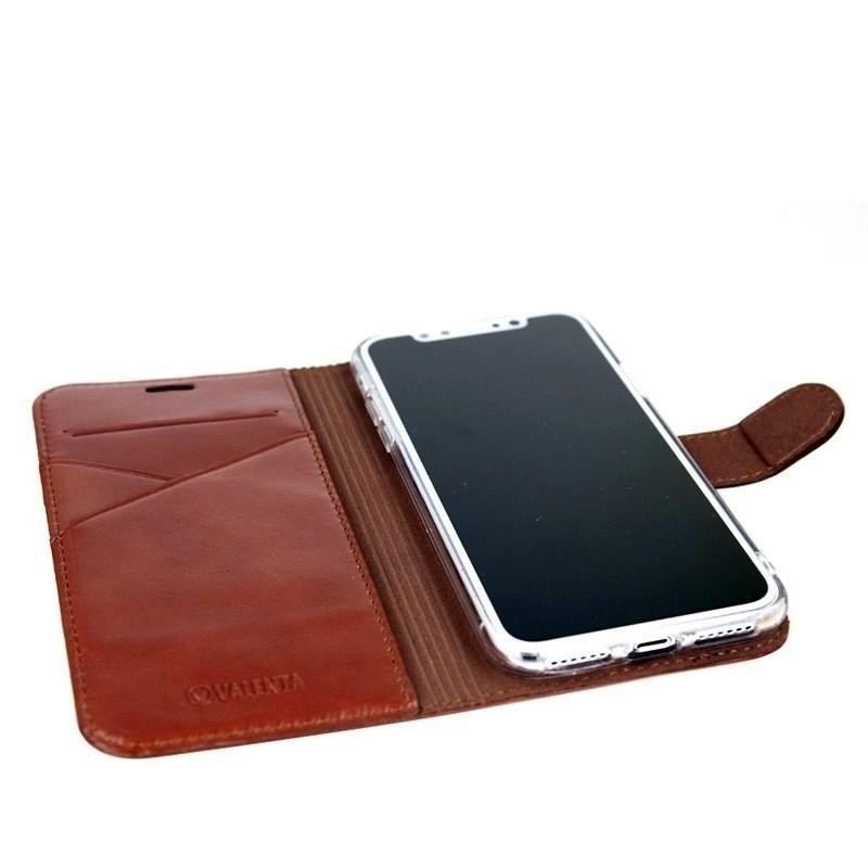Valenta Booklet Premium iPhone XS Max Hoesje Bruin 05