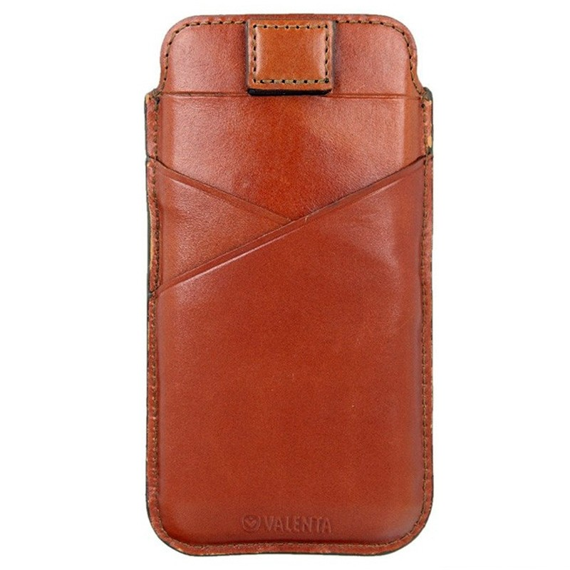 Valenta Pocket Premium iPhone XS Max Sleeve Bruin 01