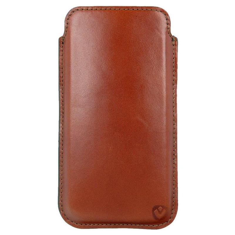 Valenta Pocket Premium iPhone XS Max Sleeve Bruin 02
