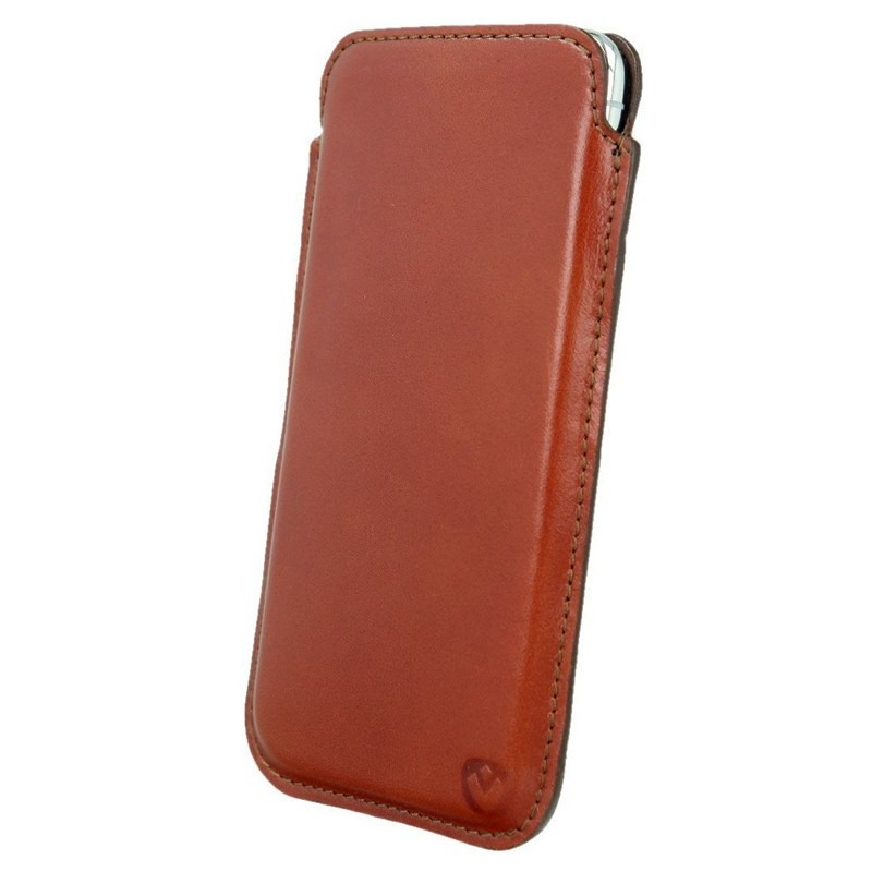 Valenta Pocket Premium iPhone XS Max Sleeve Bruin 03