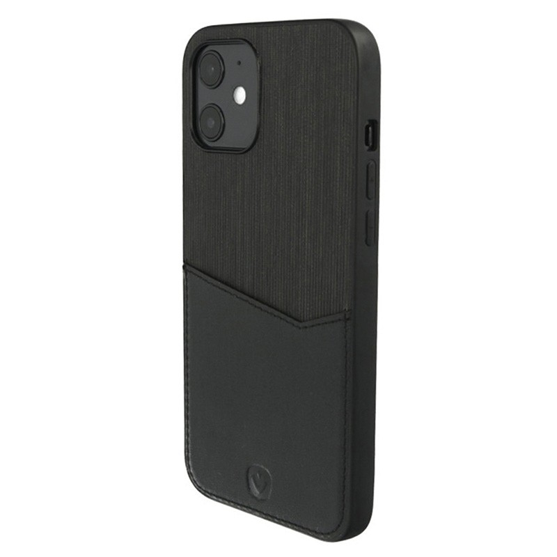 Valenta - Back Cover Card Slot iPhone 12 Mini 5.4 inch Zwart 02