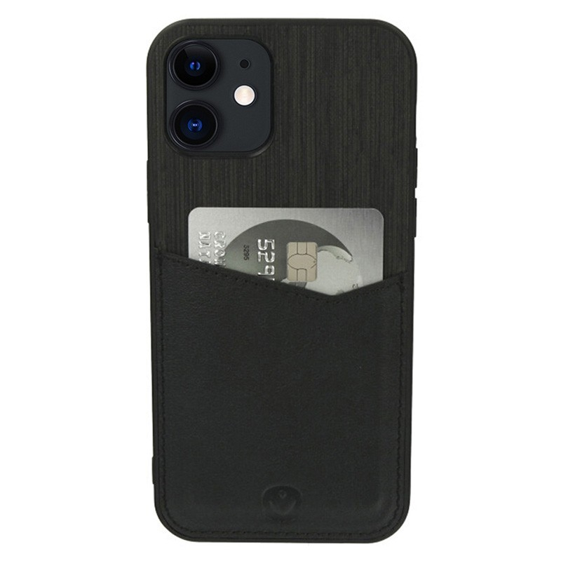 Valenta - Back Cover Card Slot iPhone 12 Mini 5.4 inch Zwart 01