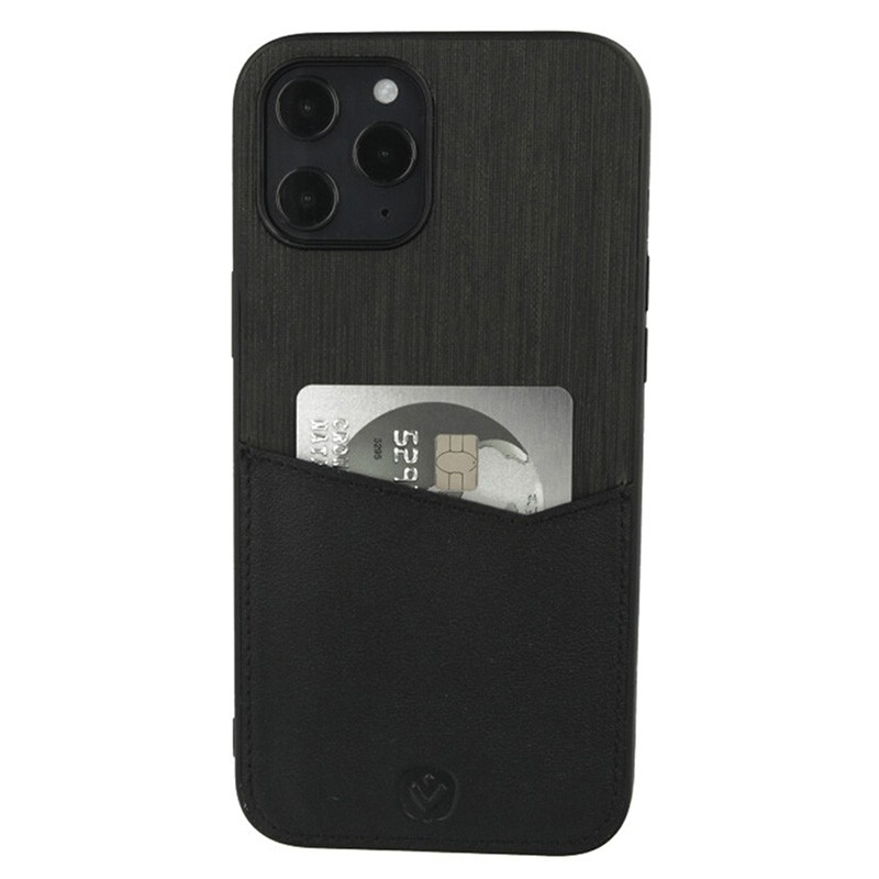 Valenta - Back Cover Card Slot iPhone 12 Pro Max 6.7 inch Zwart 01