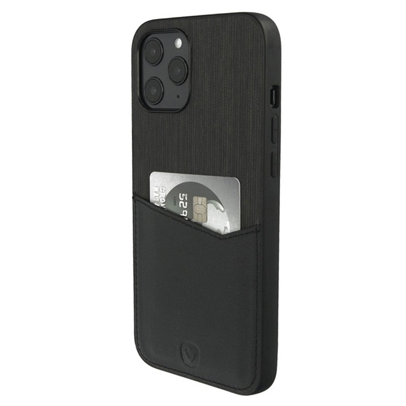 Valenta - Back Cover Card Slot iPhone 12 Pro Max 6.7 inch Zwart 02