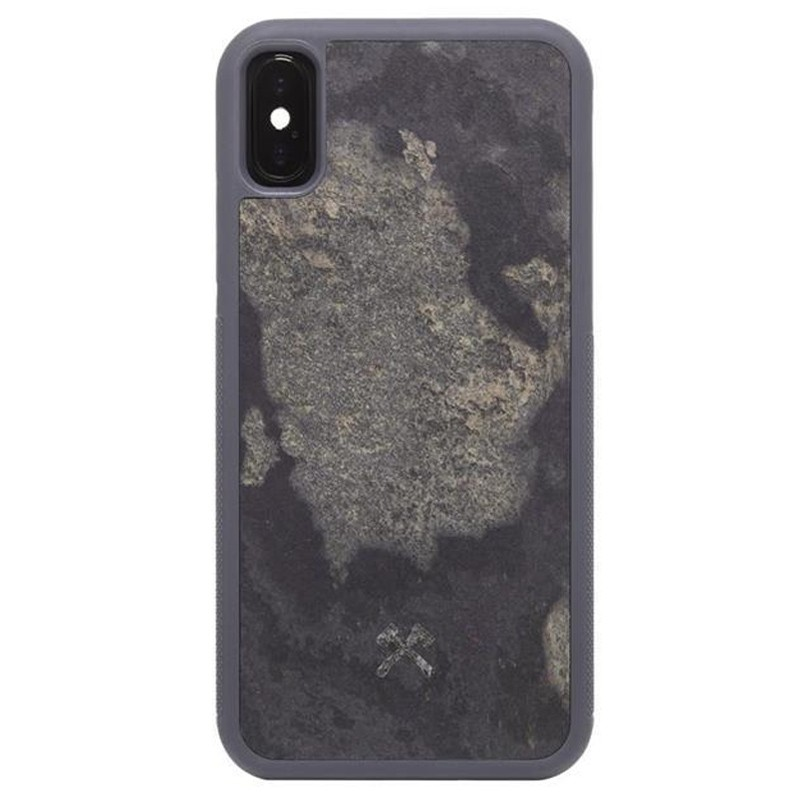 Woodcessories EcoCase Stone iPhone XS Max Hoes Grijs 01