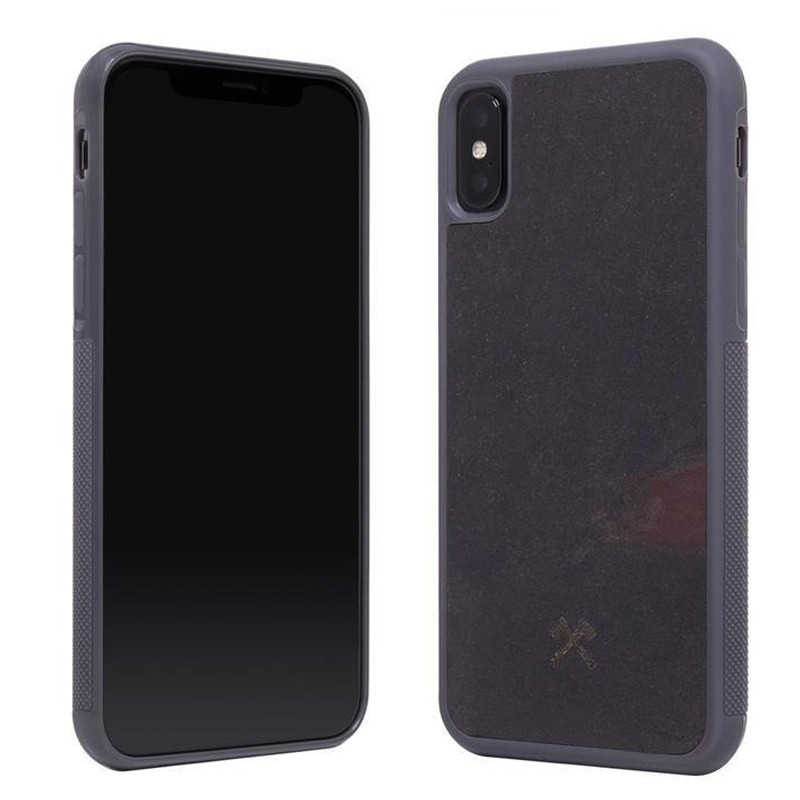 Woodcessories EcoCase Stone iPhone XS Max Hoes Zwart 02