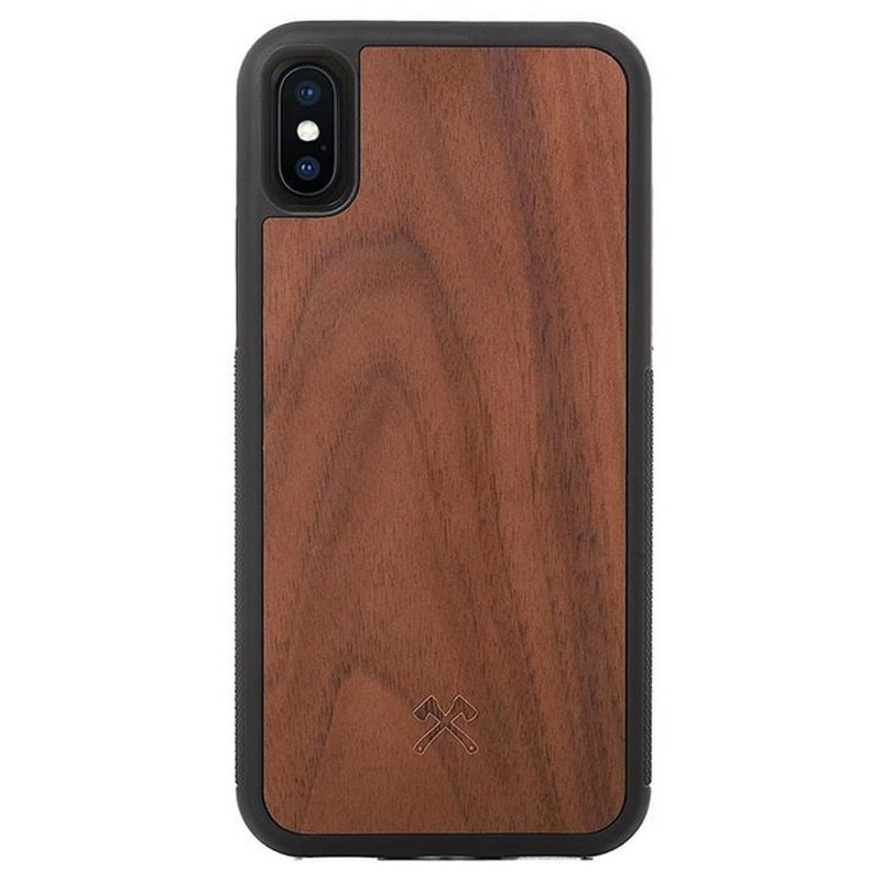 Woodcessories EcoBump iPhone XS Max Hoes Walnoot 01