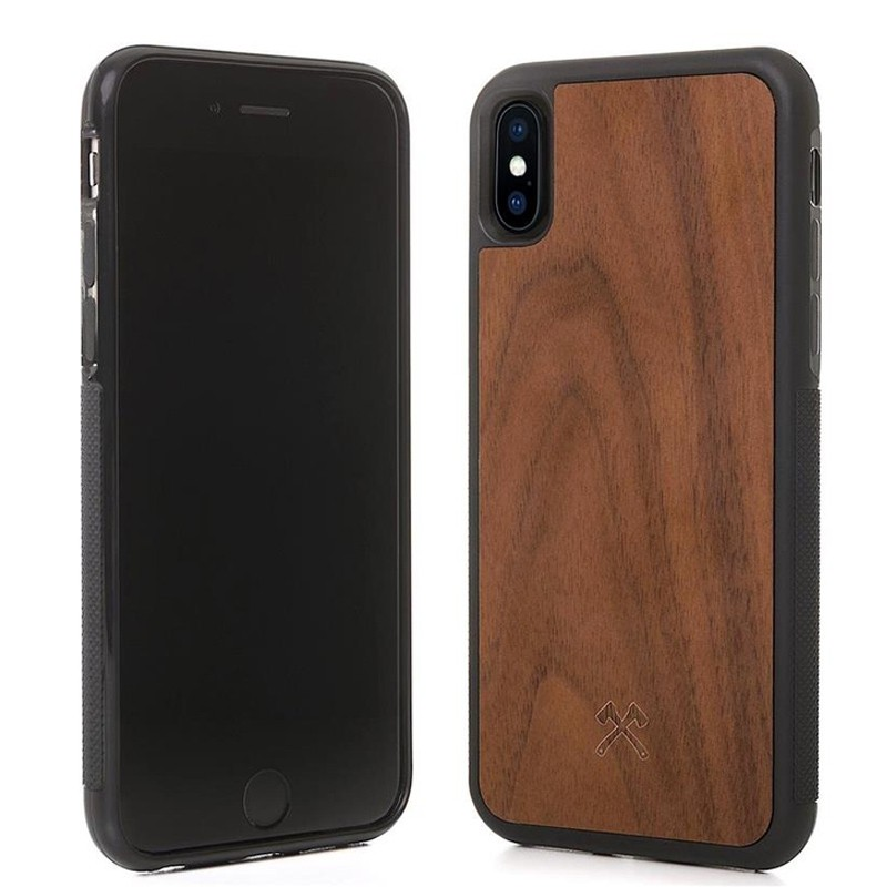 Woodcessories EcoBump iPhone XS Max Hoes Walnoot 02