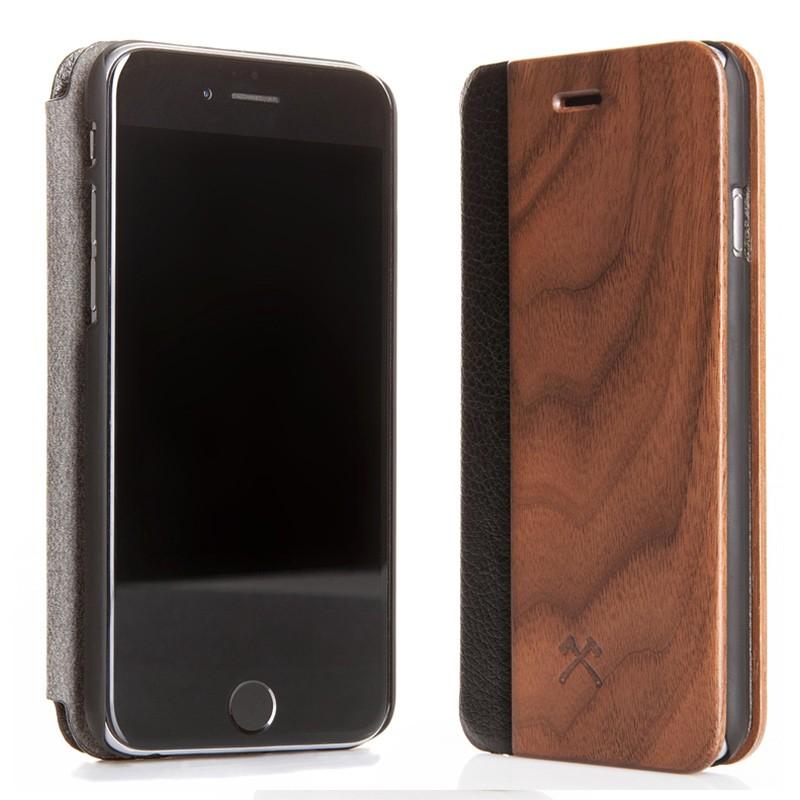 Woodcessories - EcoCase FlipCover iPhone 7 Walnoot 02