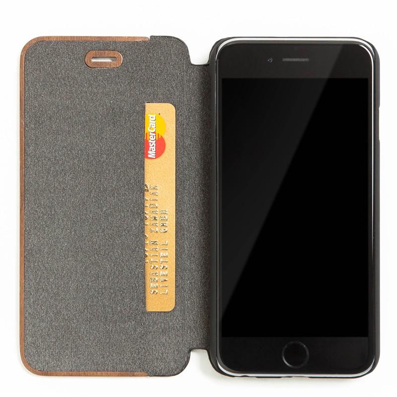 Woodcessories - EcoCase FlipCover iPhone 7 Walnoot 03
