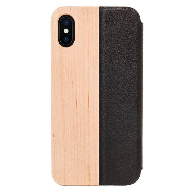 Woodcessories EcoFlip Case iPhone XS Maple - 1