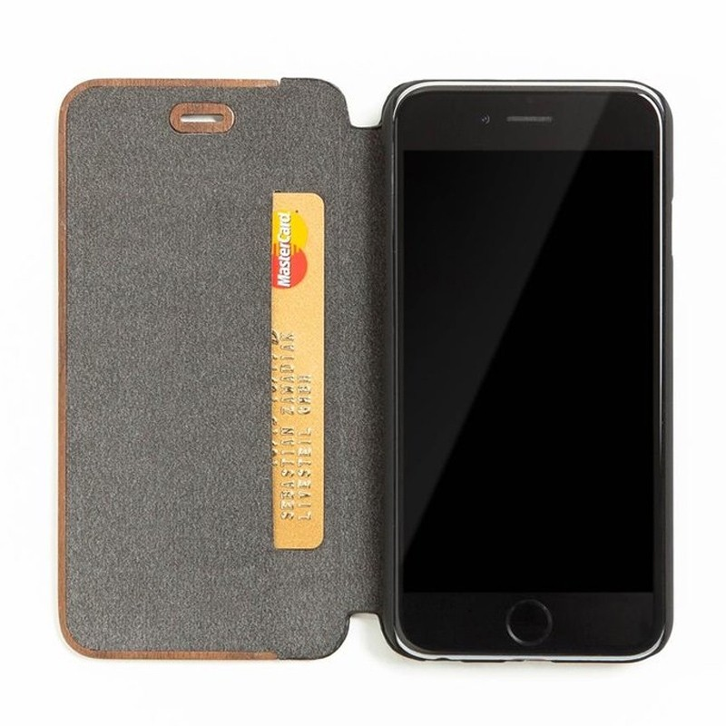 Woodcessories EcoFlip iPhone XS Max Houten Hoesje Walnoot 05