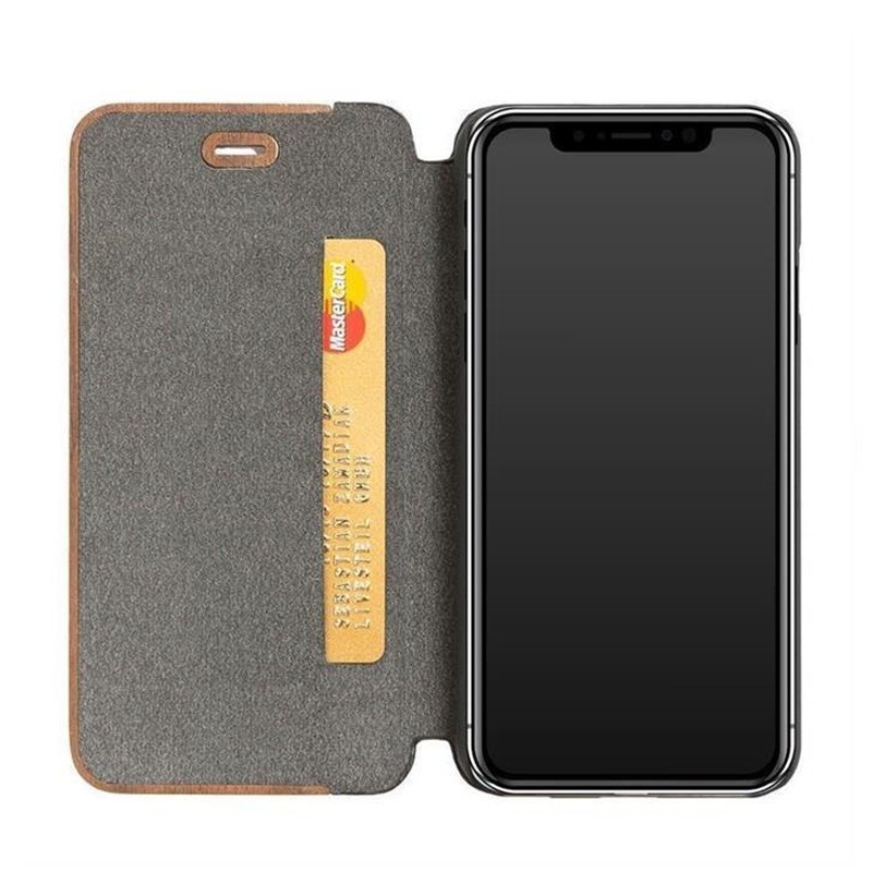 Woodcessories EcoFlip iPhone XR Hoesje Walnoot hout 03