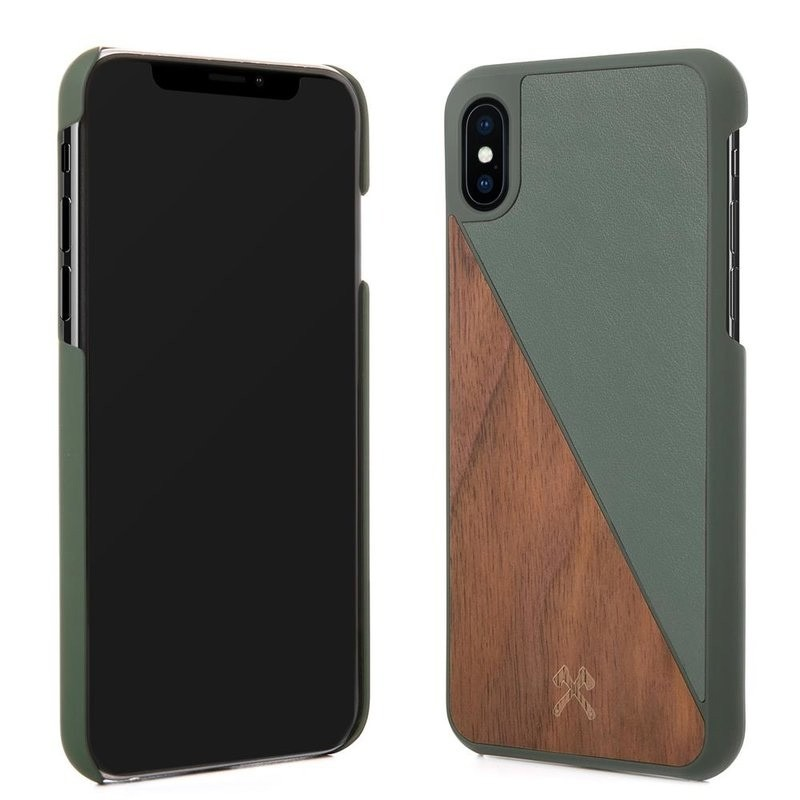 Woodcessories EcoSplit  iPhone X/Xs Walnut/Green - 3