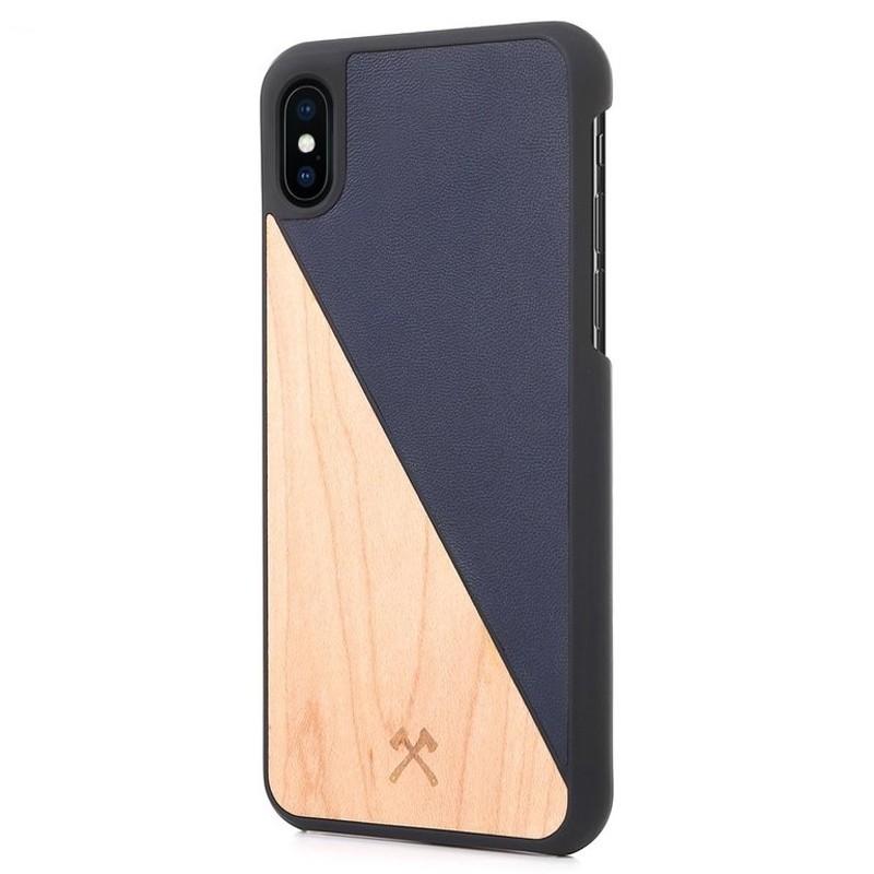 Woodcessories EcoSplit iPhone XS Max Hoesje Blauw/Esdoorn 03