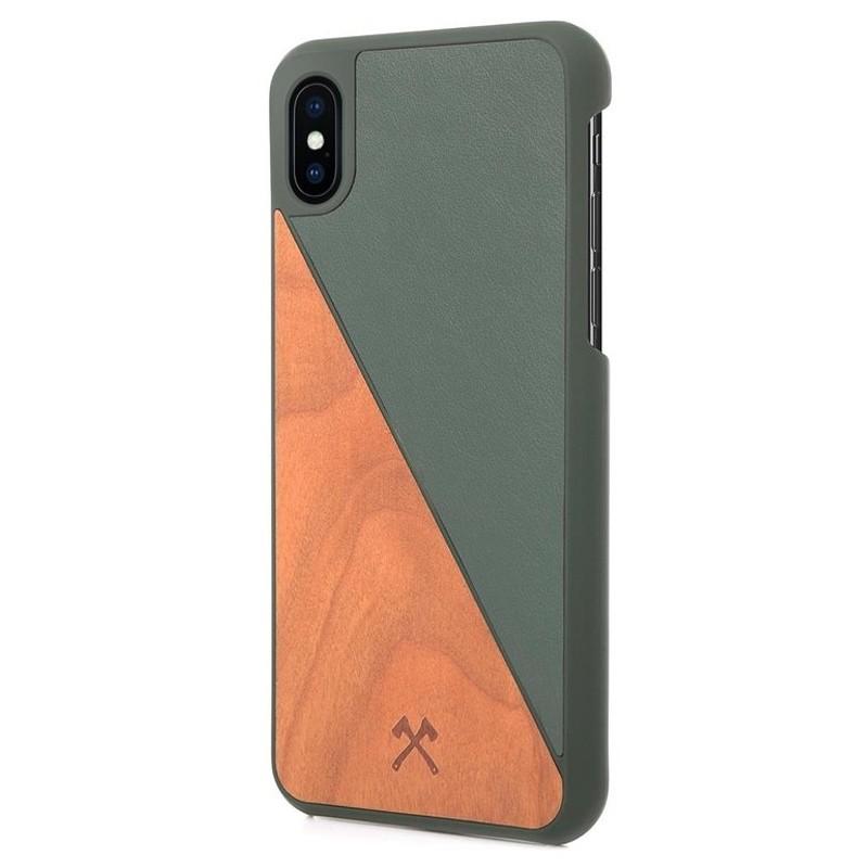 Woodcessories EcoSplit iPhone XS Max Hoesje Kersenhout/Groen 03