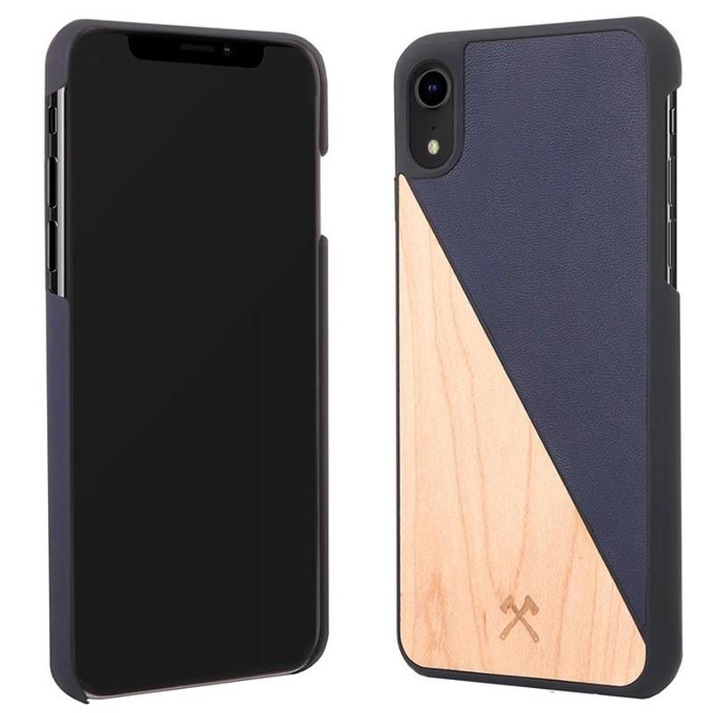 Woodcessories EcoSplit iPhone XR Hoesje Hout Esdoorn Blauw 02