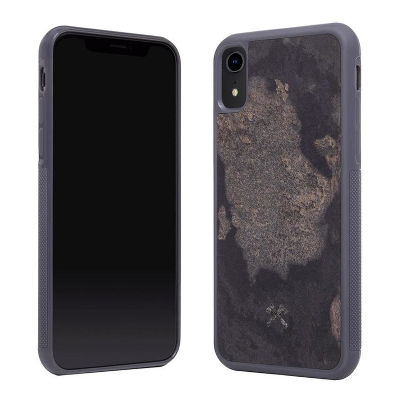 Woodcessories EcoCase Stone iPhone XR Grijs 02
