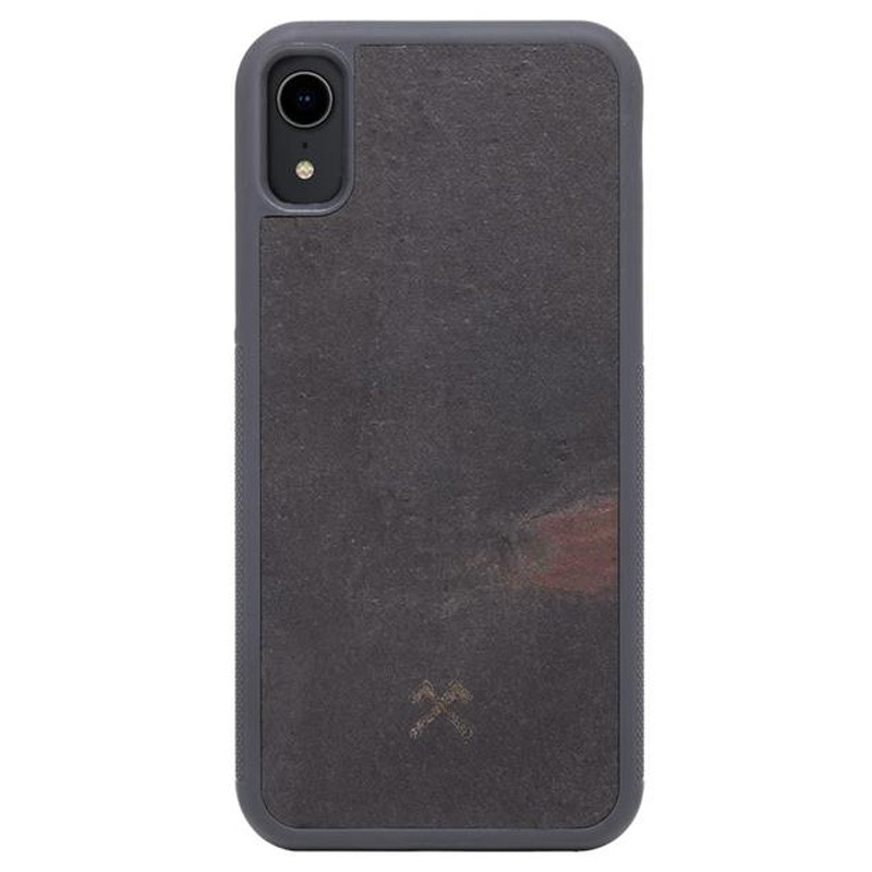 Woodcessories EcoCase Stone iPhone XR Zwart 01