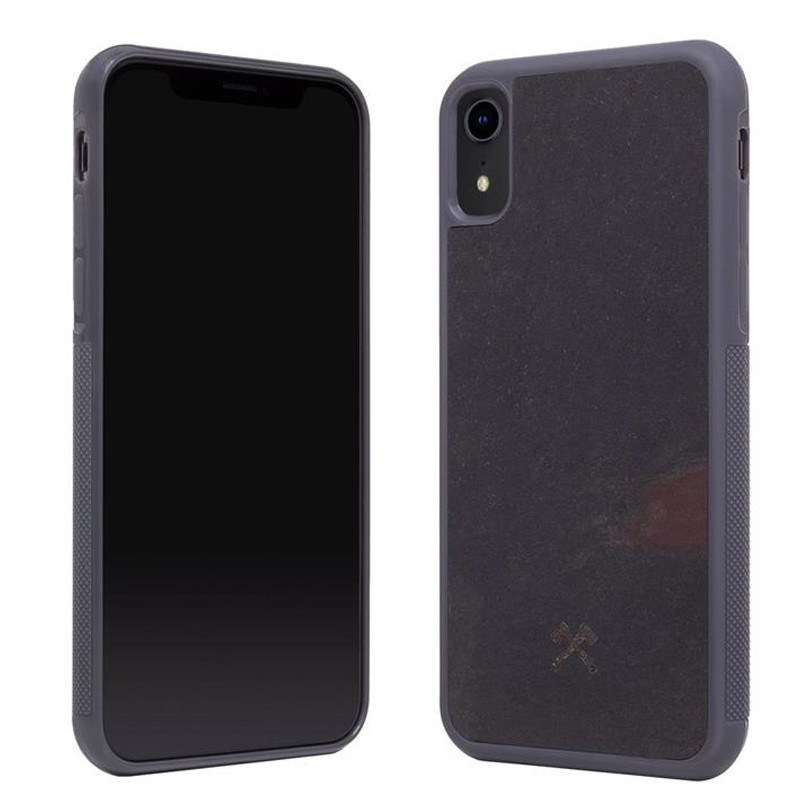 Woodcessories EcoCase Stone iPhone XR Zwart 02