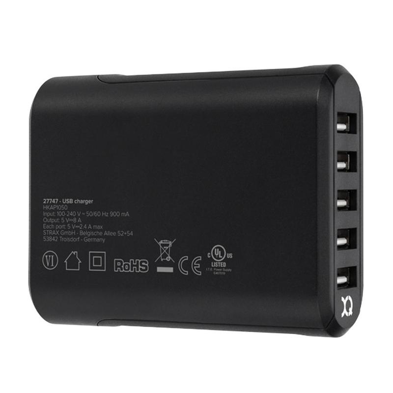 Xqisit - Universeel Oplaadstation met 5 USB poorten 03