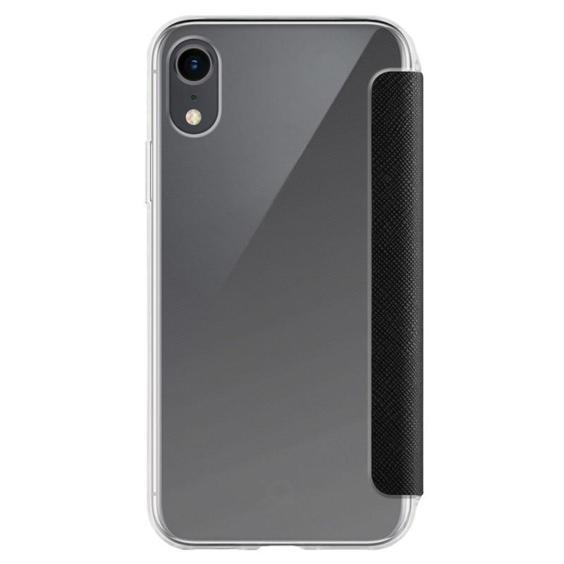 Xqisit Flap Cover Adour iPhone XR Hoes Zwart Transparant 02