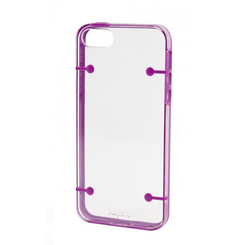Xqisit iPlate Style iPhone 5 (Purple-Clear) 03