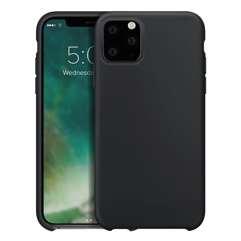 Xqisit Silicon Case iPhone 11 Pro Zwart - 1