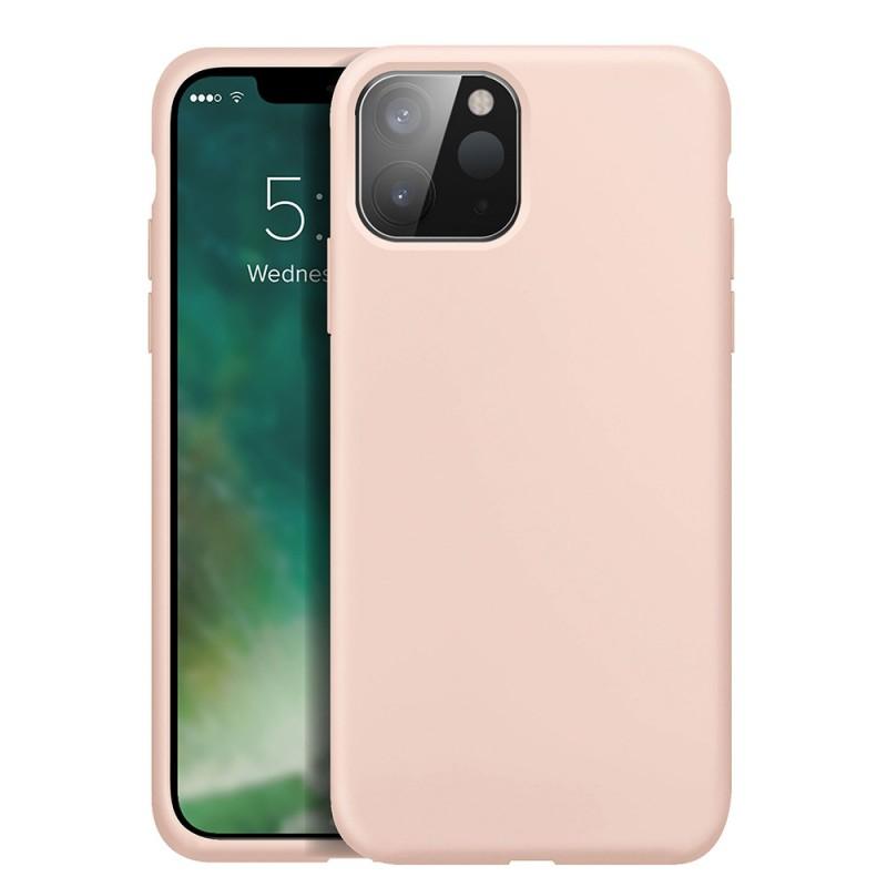 Xqisit Silicone Case iPhone 12 Mini 5.4 inch Roze 01