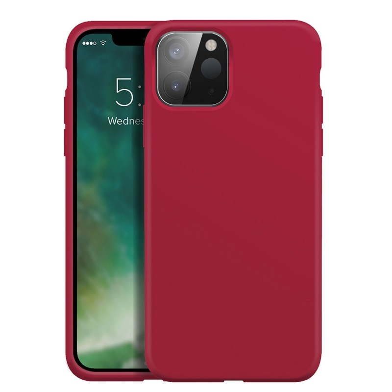 Xqisit Silicone Case iPhone 12 Pro Max 6.7 inch Rood 01